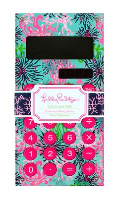 With this, math is no longer a problem!  Lilly Pulitzer desk calculator