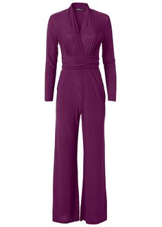 Order a sexy V-Neck Waist Detail Jumpsuit With Pockets by VENUS online or Jumpsuit Hijab, Venus Online, Stitch Fix Fall, Prom Ideas, Autumn Inspiration, Dark Purple, Jumpsuits, Style Me, Author