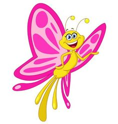 Incredibly cute image of a happy butterfly!!