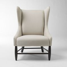 Ever since I first saw Up, I have wanted wingback chairs for a husband/wife sitting area. Here is a modern wingback chair from West Elm.