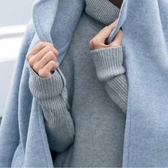 Turtleneck sweaters are the coziest.