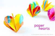 How to make 3D Paper Hearts - these are adorable and are a perfect decoration all year round - but especially for Valentine's Day and Christmas.