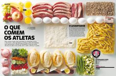 SUBMISSION: Picture (taken by Alex Silva) published in the August issue of Superinteressante magazine, in Brazil. The piece displayed the diet of eight Olympic athletes.