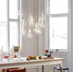Glazen hanglamp Muuto, ontworpen door Mattias Stalhbom- In diverse kleuren verkrijgbaar