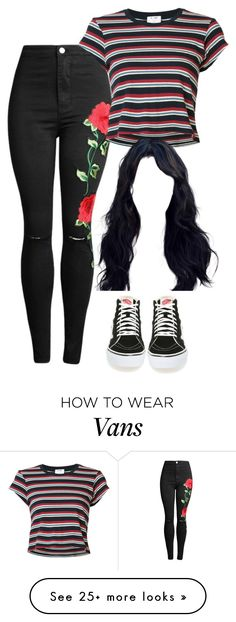 """Untitled #505"" by fangirlkaly8102 on Polyvore featuring RE/DONE and Vans"