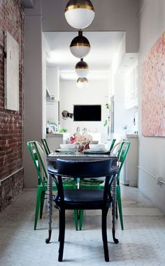 Rue Magazine Sneak Peek via Apartment 34, Dining room by Caitlin and Caitlin