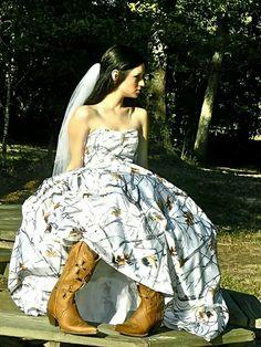 haha could you imagine?! camo wedding dress