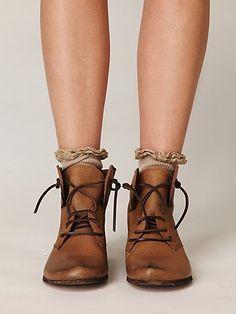 i want socks with ruffles like those and those boots.