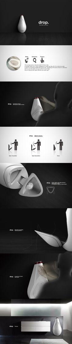 Drop-Toilet of tomorrow by Pengfei LI, via Behance