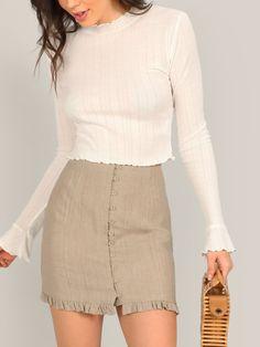 Nouveau haut femmes jupe crayon bureau école doublure midi robe semi-élastique