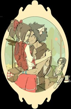 I don't even like them together but mugen looks good, Samurai Champloo.