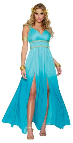 Other Information Costume Culture Women's Aphrodite Costume, Turquoise,  Medium for Halloween Gifts Idea Deals for Gifts Idea Shopping