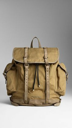 Sailing Canvas Backpack | Burberry.
