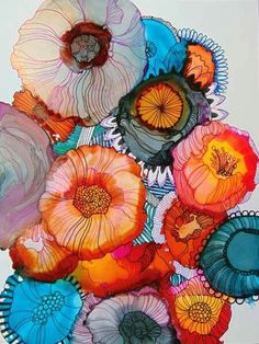 Alcohol ink by Wendy Westlake