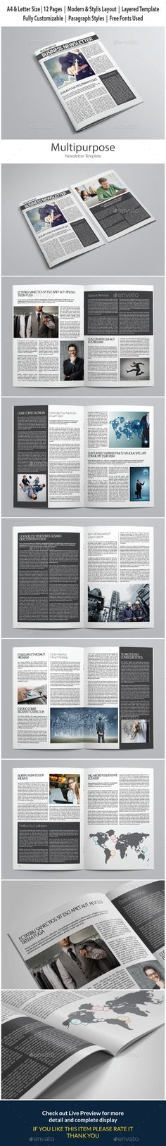Indesign Newsletter Template vol 1 - Newsletters Print Templates Download here : https://graphicriver.net/item/indesign-newsletter-template-vol-1/13608109?s_rank=64&ref=Al-fatih