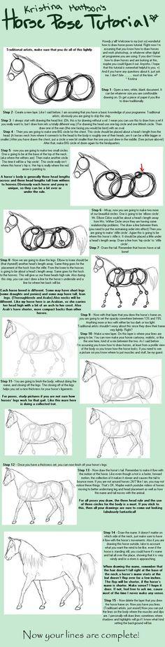 Horse Pose Tutorial by Abiadura on deviantART Art Ed Central