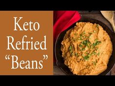 Keto Refried Beans, low carb refried beans, keto bean recipe, keto beans, low carb beans, healthy refried beans, refried bean recipe, refried beans Low Carb Beans, Dairy Free Recipes, Healthy Recipes, Maria Mind Body Health, Keto Restaurant, Vegetarian Options, Refried Beans, Bean Recipes, Low Carb Keto