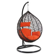 Single Seat Egg Shaped Indoor Hanging Chair Egg Swing Chair with Cushion Single Seat Egg Shaped Indo Egg Swing Chair, Hanging Swing Chair, Swinging Chair, Swing Chairs, Hanging Chairs, Diy Hanging, Beach Chairs, Office Guest Chairs, Luxury Office Chairs