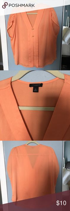 Orange Cream Top Great condition. Ann Taylor Tops Blouses