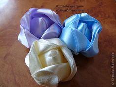 FOLDED RIBBON Master class Tsumami Kanzashi, Sewing: Master Class new flowers Ribbons, Threads.  Photo 1