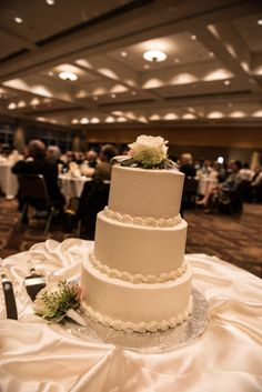 Beautiful wedding cake from The Exchange Bakery at a DECC Wedding in the Harbor Side Ballroom, Duluth, MN   @missy