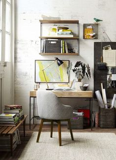 24 Minimalist Home Office Design Ideas For a Trendy Working Space Click her. Home Office Design, Home Office Decor, Home Interior Design, Interior Architecture, House Design, Home Decor, Office Ideas, Interior Ideas, India Architecture