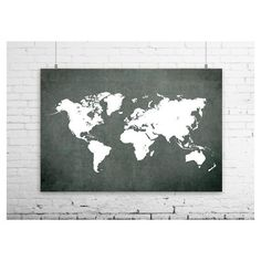 Highly detailed word map poster set in earth tones set of 3 split grey world map print grey world map poster grey world map grey wall gumiabroncs Images