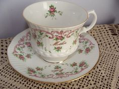 Mother Teacup and Saucer bone china Royal Dover by TheClassyLady, $10.00