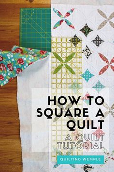 You've finally gotten to the finish line of quilting and now your quilt looks a wonky shape! This quilt tutorial will show you how to square a quilt before adding binding for a beautiful finish. #quilttutorials #howtomakeaquilts #howtomakeaquiltforbeginners Quilting Tutorials, Quilting Projects, Missouri Quilt, Quilt Patterns Free, Make It Through, Finish Line, Learn To Sew, Quilt Top, Square Quilt