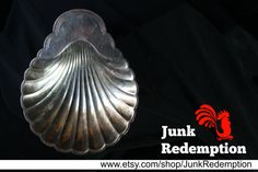 Silver plate shell dish by JunkRedemption on Etsy