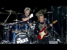 """Live in Concert"" at Baseball Stadium ""Tokyo Dome"" 2008 Japan Sting - Vocals, Bass Andy Summers - Guitar Stewart Copeland - Drums New Wave Music, The New Wave, Good Music, My Music, Rock And Roll Bands, Rock N Roll Music, The Police Live, American Idol, New Shows"