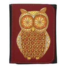 Groovy Retro Owl Wallet - Cute & Colorful!