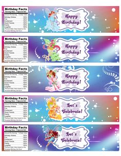 INSTANT DOWNLOAD Winx Club Birthday Water by IrrelephantDesigns