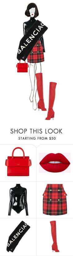 """High Fashion"" by ladygagafashion ❤ liked on Polyvore featuring Givenchy, A.F. Vandevorst, Balmain, Balenciaga and Philip Treacy"