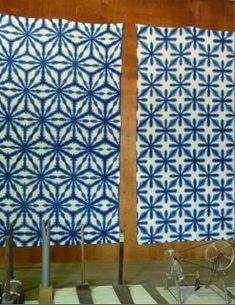 Snowflake pattern featured on this post from from File Under Fiber: Harisho Studio - sekka shibori