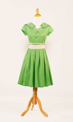 Green Pleated Summer Dress from Shabby Apple - Can't tell if it's a bright or pastel but either way it's a very lively green. I like the pleated shoulder detail and how the fitted nature goes throught the top of the dress before becoming very free size through the skirt that ends right above the knee.