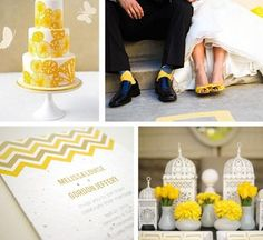 sunflower-yellow-wedding-color-palettes