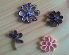 A Journey into Quilling & Paper Crafting: New Quilling Technique - Outline Flowers with Multi/ Single Strips