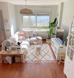 Small Apartment Living, Condo Living, Small Living Rooms, Living Room Decor Ideas Apartment, Living Room And Bedroom In One, Apartment Ideas, Small Living Room Designs, Cute Apartment Decor, Small Apartment Furniture