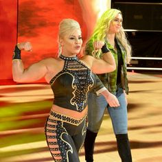 Dana Brooke w/ Charlotte at WWE Tribute to the Troops as she face Bayley Dana Brooke, Charlotte Flair, Wwe Divas, Troops, Superstar, Wrestling, Female, Lady, Fictional Characters