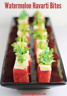 Summer Party Food: Watermelon Havarti Bites (great for  Labor Day weekend)
