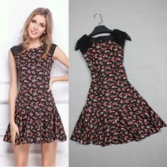 Find More   Information about Women Summer Dress 2014 Fashion A line Sleeveless Above Knee Short O neck Print Casual Dress High Quality,High Quality  ,China   Suppliers, Cheap   from She's Room on Aliexpress.com