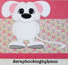 White Mouse Paper Piecing on Ebay <3
