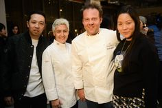 Opening Ceremony Founders Humberto Leon and Carol Lim, together with Callebaut Noth-American Chef Celine Plano and Callebaut Belgian Chef Patrick Aubrion @callebautofficial #OCFW14
