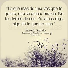 ernesto sabato frases - Buscar con Google Great Quotes, Love Quotes, Quote Backgrounds, Spanish Quotes, Be Yourself Quotes, Decir No, Favorite Quotes, Qoutes, Poetry