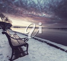iPHOTOS.com - Photo of a Bench in Winter