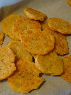 Sourdough Cheese Crackers With Butter, Flour, Sourdough Starter, Shredded Cheddar Cheese, Parmesan Cheese, Garlic Powder, Cracked Black Pepper, Sea Salt, Smoked Paprika
