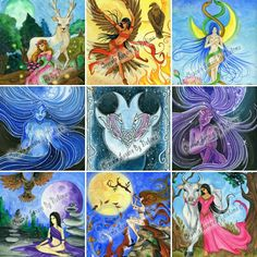"""Some images of the deck of divination cards """"Lunar Oracle"""""""