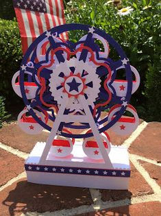Papercrafts and other fun things: A Patriotic Ferris Wheel That Really Spins for Independence Day Stem For Kids, Stem Science, Stem Projects, Happy Independence Day, Science Activities, Ferris Wheel, Spinning, Card Stock, Paper Crafts
