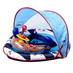 Perfect Fit Lights & Sounds BabyBoat® with Adjustable SunShade - Lil' Mariner, Blue